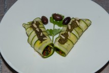 Fingerfood Zuchini cannelonis