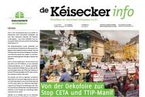 Kéisecker-Info Cover Oktober 2016