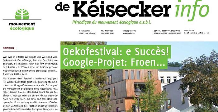 Kéisecker Info oktober news
